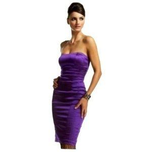 BEBE Dresses - BEBE Purple Satin Silky Mini Dress | Small
